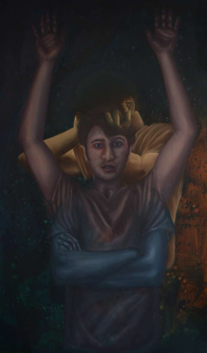 """""""The Unknown Lives Around Us (III),"""" the painting that is included in the exhibit at the 5th Annual National Juried Exhibition in Huntington."""