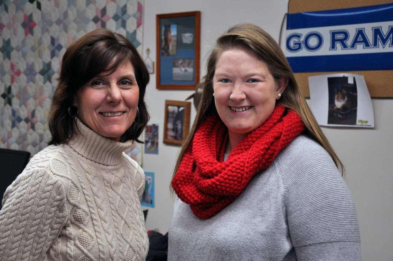 Rhonda Jackson, counselor, and Jess Lanciano, residence hall associate.