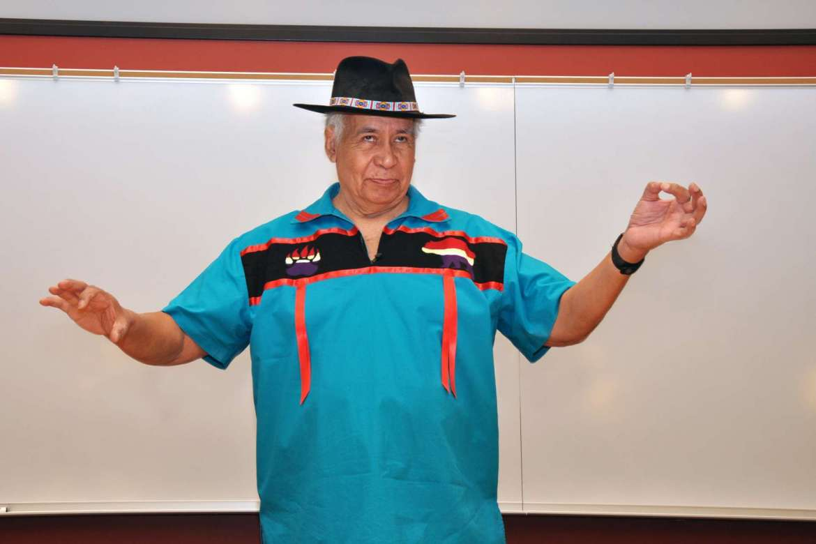 Storyteller Lloyd Arneach opened the 39th annual Appalachian Studies Association conference with a Cherokee blessing and Native American stories.