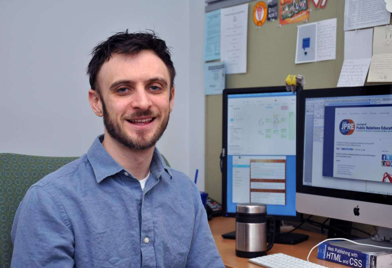 Dr. Matt Kushin, associate professor of mass communications.