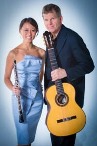 The D'Amore Duo, featuring oboist Emily Tsai, and guitarist William Feasley.