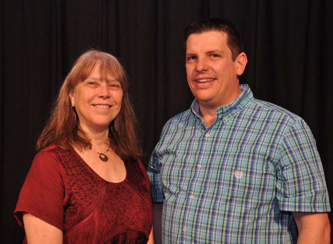 Dr. Betty Ellzey, professor of English and chair of the Department of English, and Dr. Jason McKahan, associate professor of mass communications and chair of the Department of Mass Communications.