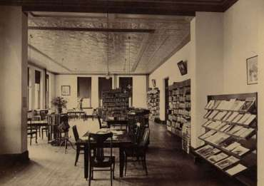 Shepherd College Library in Knutti Hall ca. 1904