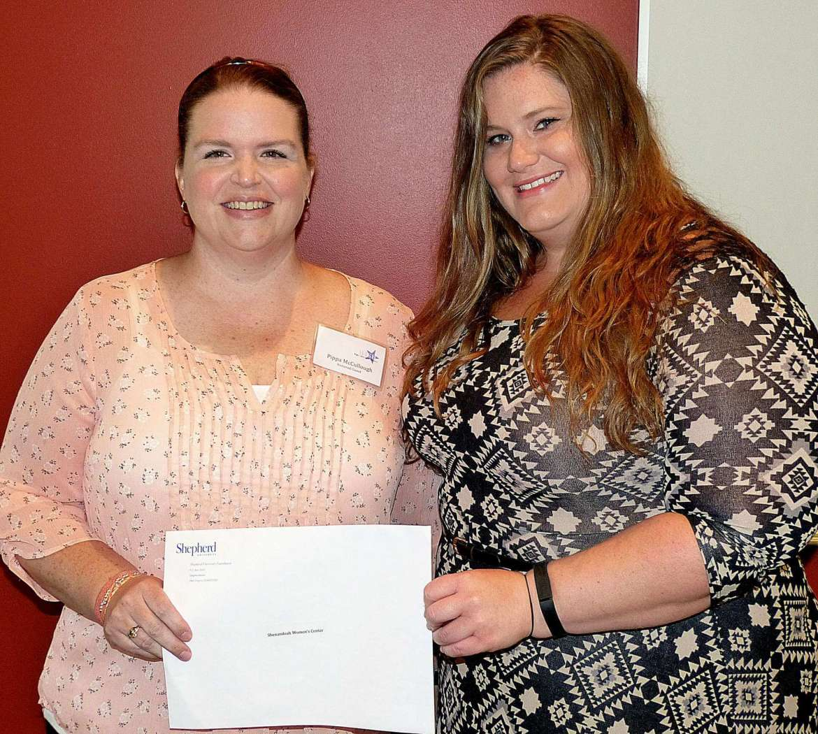 Shenandoah Women's Center, represented by (l. to r.) Pippa McCullough and Katie Spriggs.