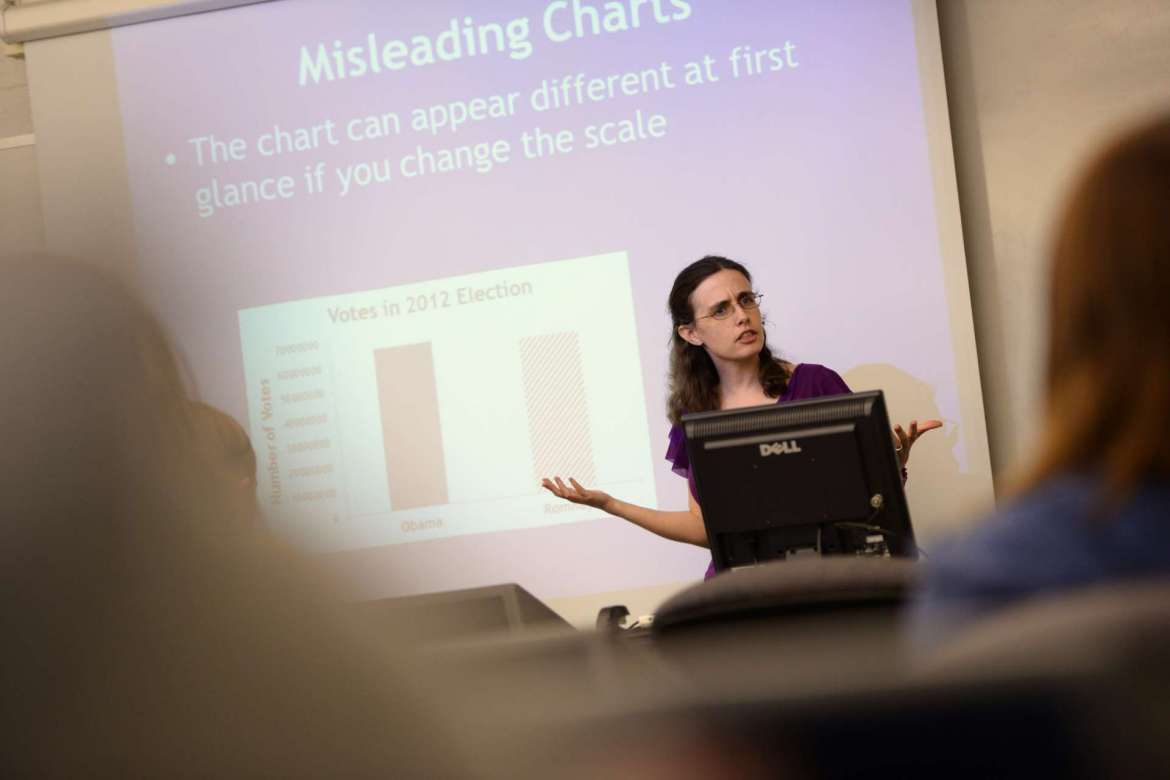 Dr. Lindsey Levitan, assistant professor of psychology. Photo by Sam Levitan.
