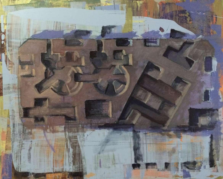 """""""Bulwark 3,"""" by John Meyers, oil and acrylic on panel."""