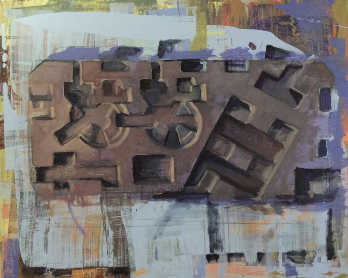 """Bulwark 3,"" by John Meyers, oil and acrylic on panel."