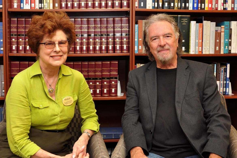 Dr. Sylvia Bailey Shurbutt, Appalachian program coordinator, and Charles Frazier, Appalachian Heritage Writer-in-Residence 2016.