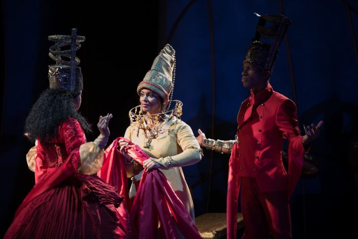 Margaret Ivey, Nafeesa Monroe and Damian Thompson in THE WEDDING GIFT, by Chisa Hutchinson. Photo by Seth Freeman. CATF 2016.