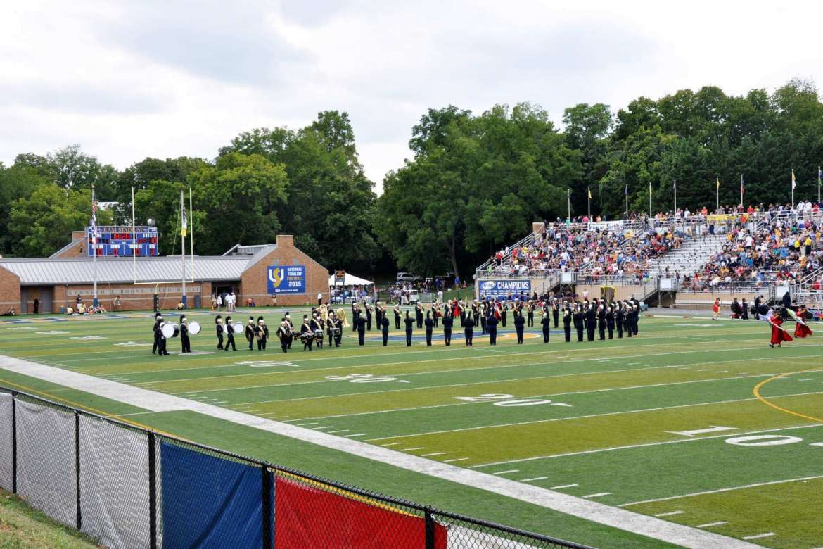 Ram Bands performed during the halftime. Shot from the Multi-Use Pavilion.
