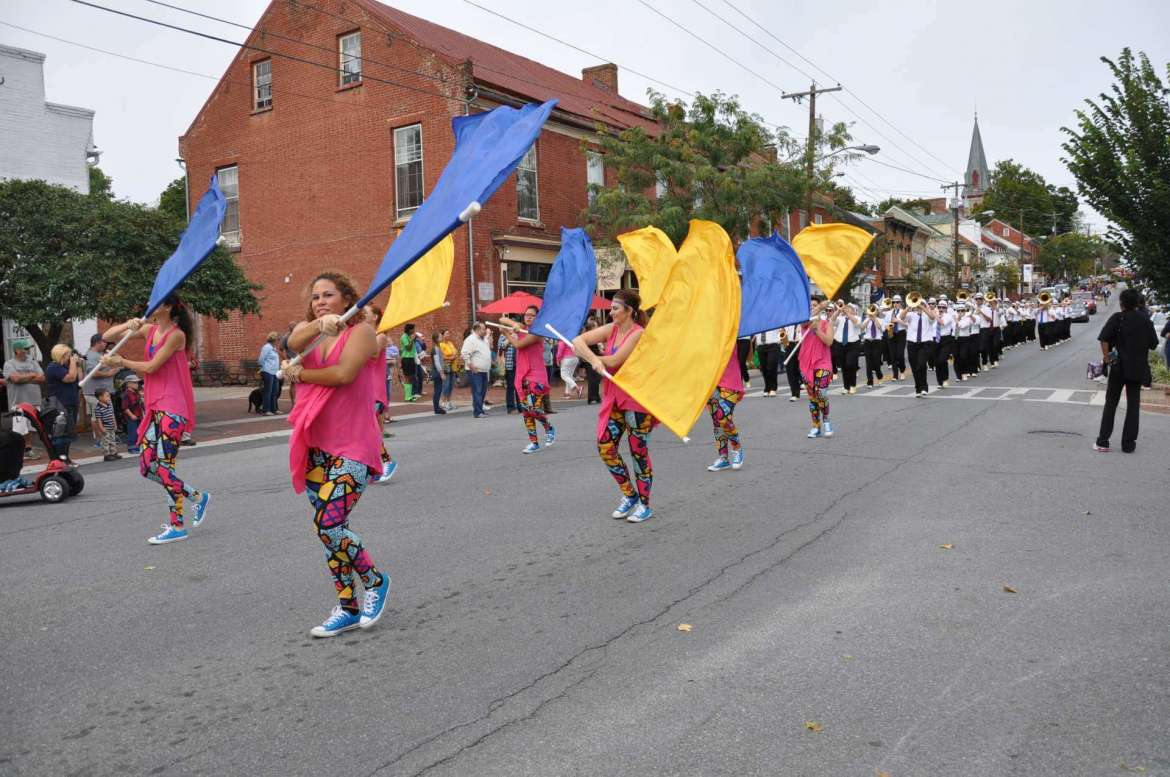 The Shepherd University Homecoming Parade will take place Saturday, October 22, beginning at 10:15 a.m. on German St. The Ram Band, seen here marching in the 2016 parade, is one of many organizations that will particiate.