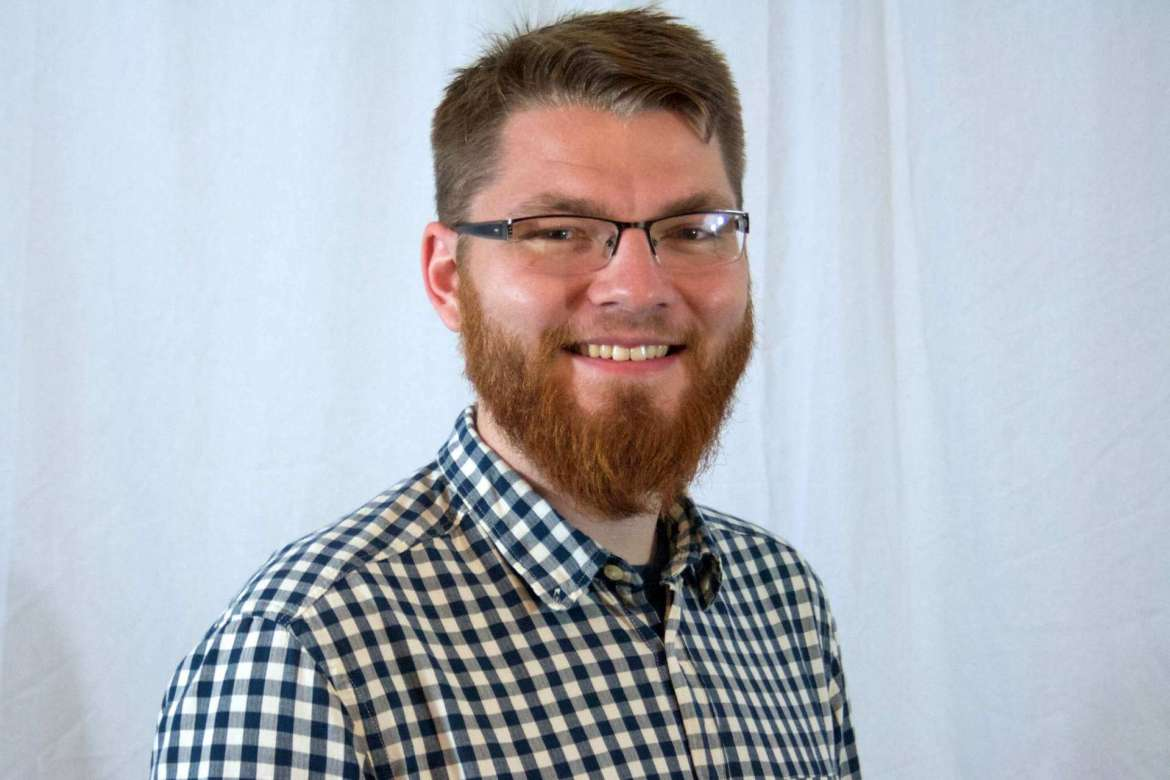 Andrew Price, a graduate of Shepherd's College Student Development and Administration master's degree program and a residential learning coordinator at Virginia Tech.