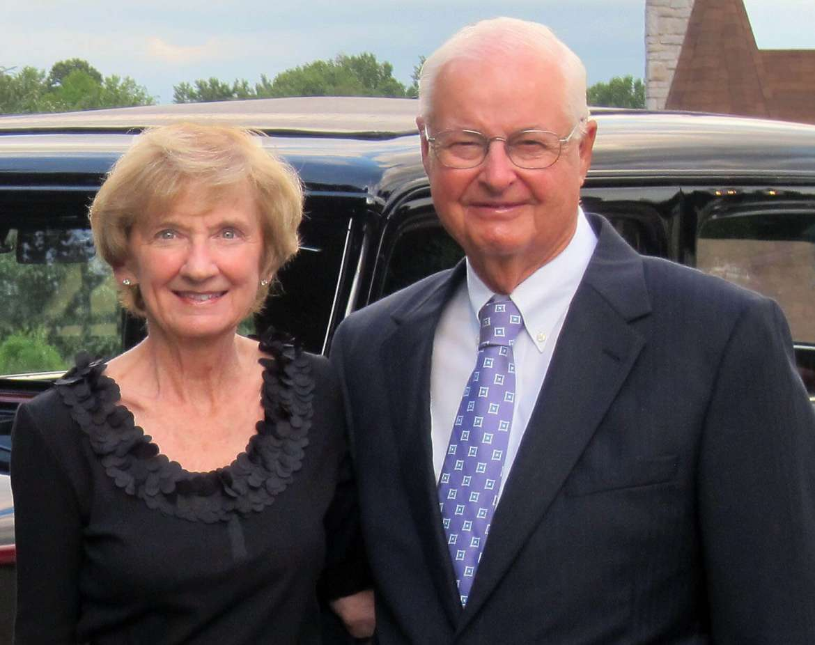 Larry Strite '60 (right) is Shepherd University's 2016 Outstanding Alumnus. Strite, who is pictured here with his wife, Nancy, will be honored on October 22 during Shepherd's Homecoming.