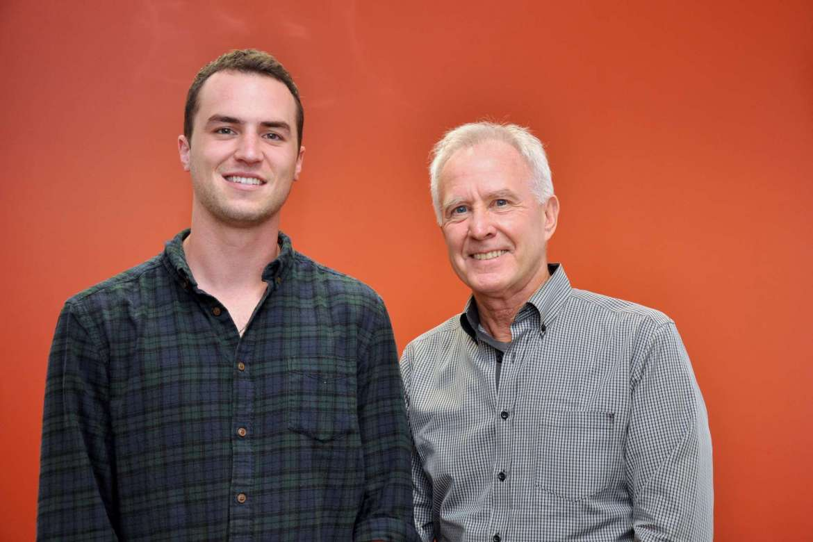 Dillon Myers (left) and Alan Gibson are co-founders of Potluck, a new social media tool designed to give people who live alone the opportunity to have someone to converse with during dinner.