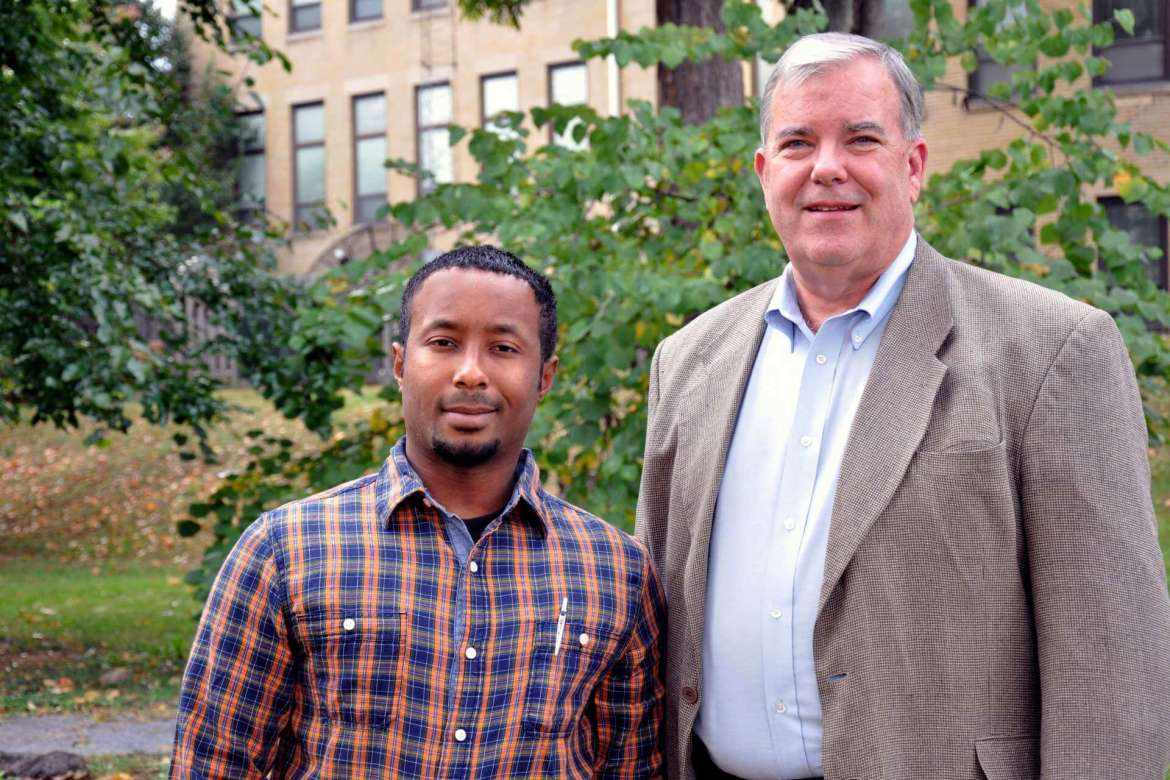 Brent Lyon (right), of Harpers Ferry, is a semifinalist in the annual West Virginia Collegiate Business Plan Competition. His mentor for the competition is Mike Daily, adjunct instructor of business administration.