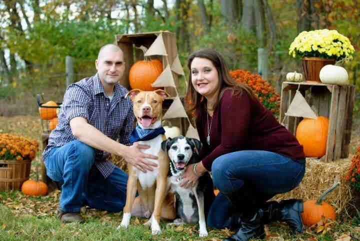 Patrolman Matt Harper, Tucker, Chyna and wife Autumn Harper.