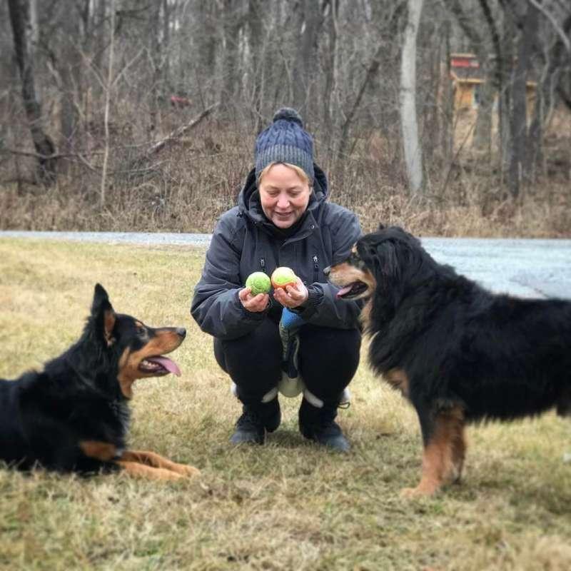 Monica Larson, Associate Professor of Mass Communication, with Arrow and Loki