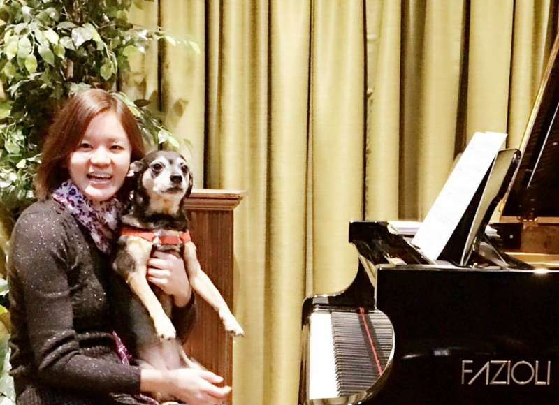 Dr. Yu-Hsuan Liao, Assistant Professor of Music, and Angel
