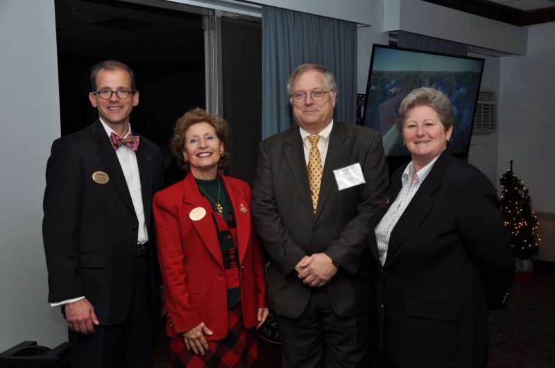 Co-directors of the Center for Regional Innovation pictured with President Hendrix (second from l.) are Dr. Scott Beard, dean of graduate studies and associate provost; Dr. Ben Martz, dean of business school development; and Dr. Colleen Nolan, dean of the School of Natural Sciences and Mathematics.