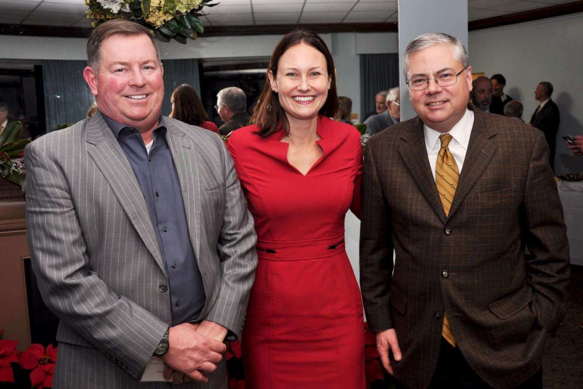 PotomacWave Consulting of Alexandria, Virginia, is working with Shepherd University's new business school and will offer students internships. Pictured (l-r) Jim Carroll, vice president for business development; Emma Sopko, founder and president; and Kerry L. Thomas, vice president of critical infrastructure protection and resilience.