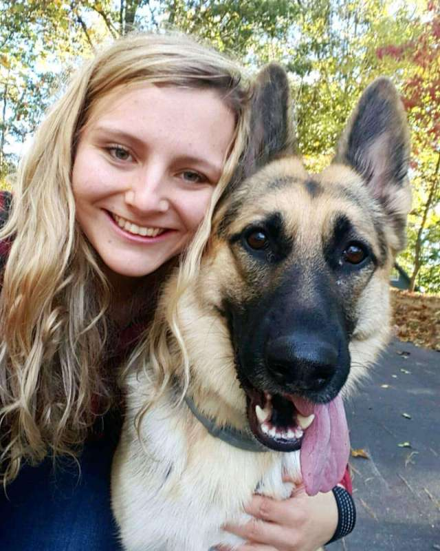Claire West, Graduate Assistant for Fraternity and Sorority Life in the Office of Student Engagement, and Aurora.