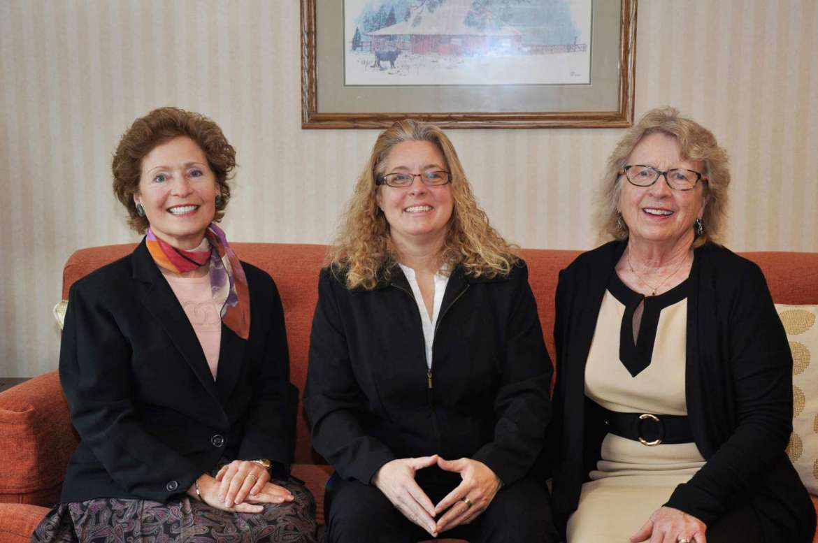 Shepherd University President Mary J.C. Hendrix recently met with Jefferson County School Superintendent Bondy Shay Gibson to discuss the dual credit classes Shepherd is offering to high school juniors and seniors in Jefferson County. Pictured (l. to r.) are Hendrix, Gibson, and Dr. Virginia Hicks, Shepherd's assistant provost for academic community outreach.