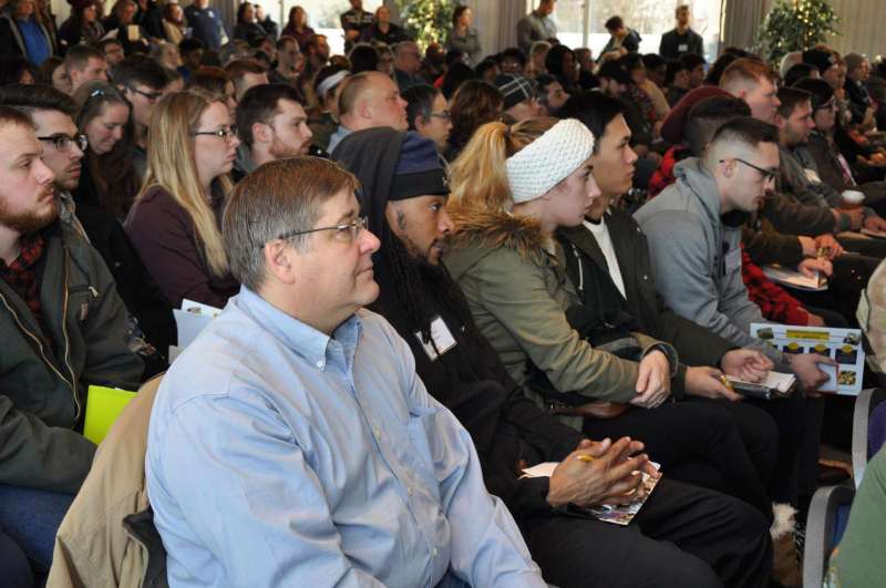 New students and their families attended the January 6 spring convocation.