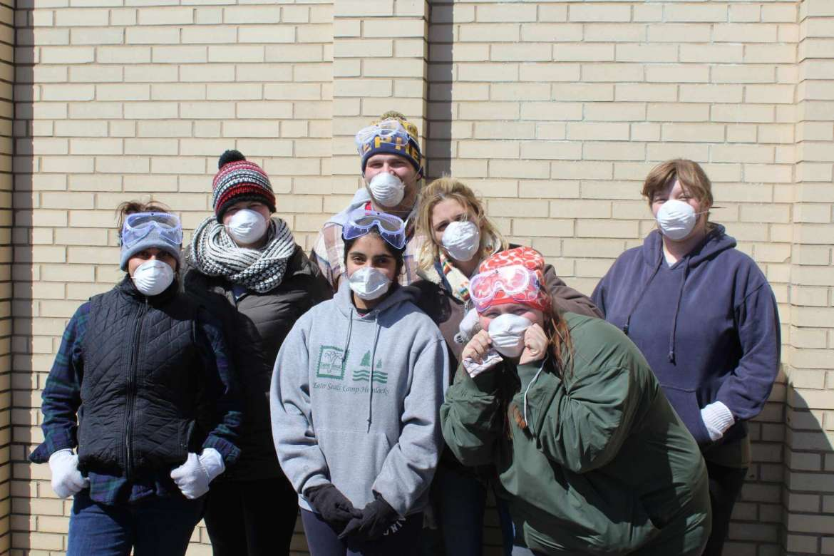 During Alternative Spring Break in southern West Virginia, Shepherd students helped clean out the Fort Gay School, which the Coalfield Development Corporation is converting to a senior living, town hall, and community space.