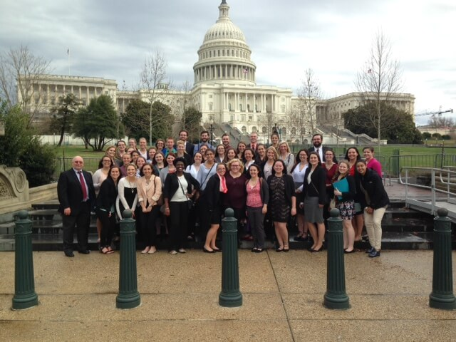 Shepherd nursing students visit Capitol Hill to lobby on health care issues.