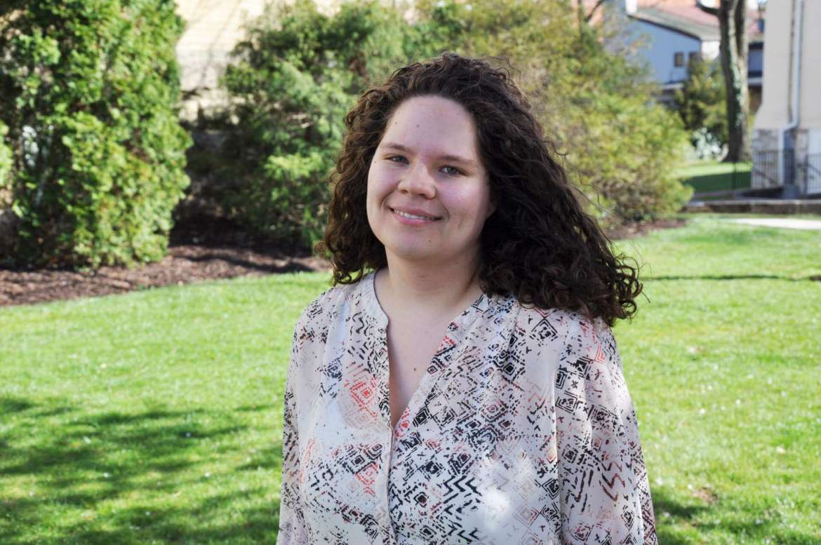 """Claudia McCarron, an English major from Charles Town, won a monetary prize for writing the best essay, titled """"'The Destined Prophetess': Uncle Tom's Cabin, The Scarlet Letter, and the American Jeremiad,"""" at the 25th Annual West Virginia Undergraduate English Symposium March 25 at West Liberty University."""