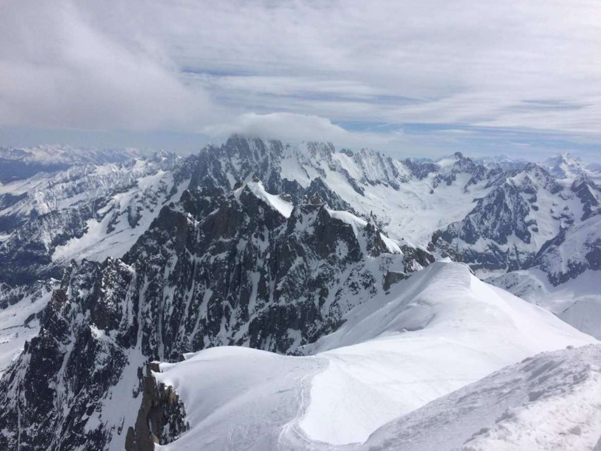 Unexpected Moment: Mt. Blanc in Chamonix, France, photo by Alyson Hehr.