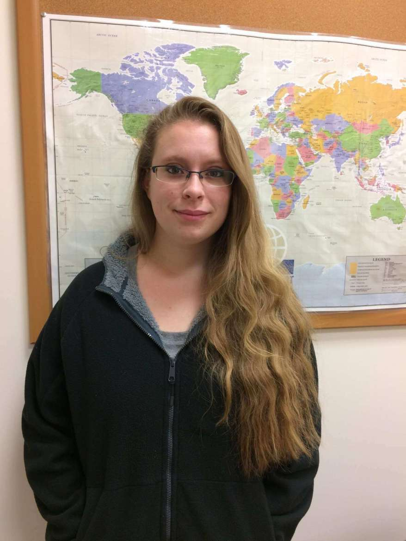 Elizabeth Camp, a social work major from Eldersburg, Maryland.