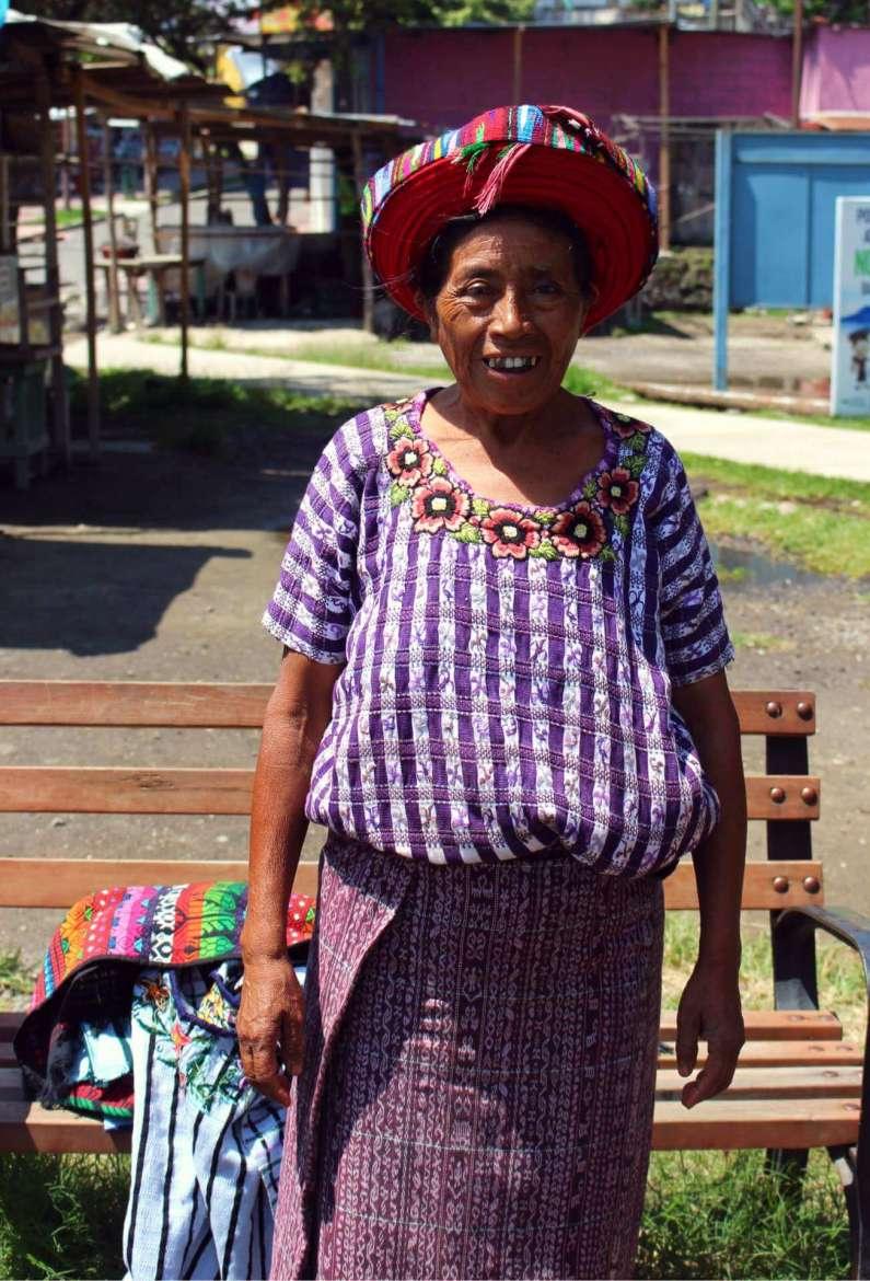 Unexpected Moment: a Guatemalan woman in traditional clothes, photo by Elizabeth Camp.