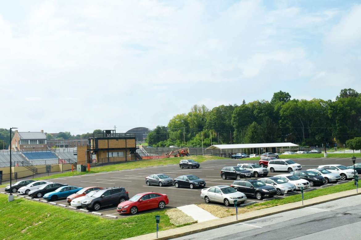 The new commuter student parking lot.