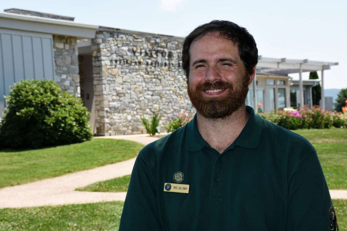 Mike Galloway, a recent Shepherd graduate from Germantown, Maryland, spent the summer interning at Antietam National Battlefield.