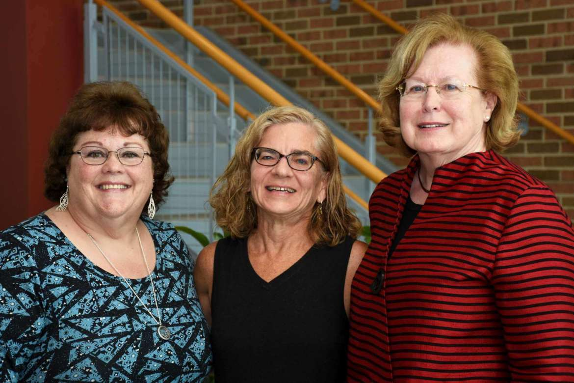 Pictured (L. to R.) are Dr. Doris Burkey, assistant professor of nursing education; Dr. Barbara Spencer, assistant professor of nursing education; and Dr. Sharon Mailey, acting dean for and chair of Shepherd's Department of Nursing Education.