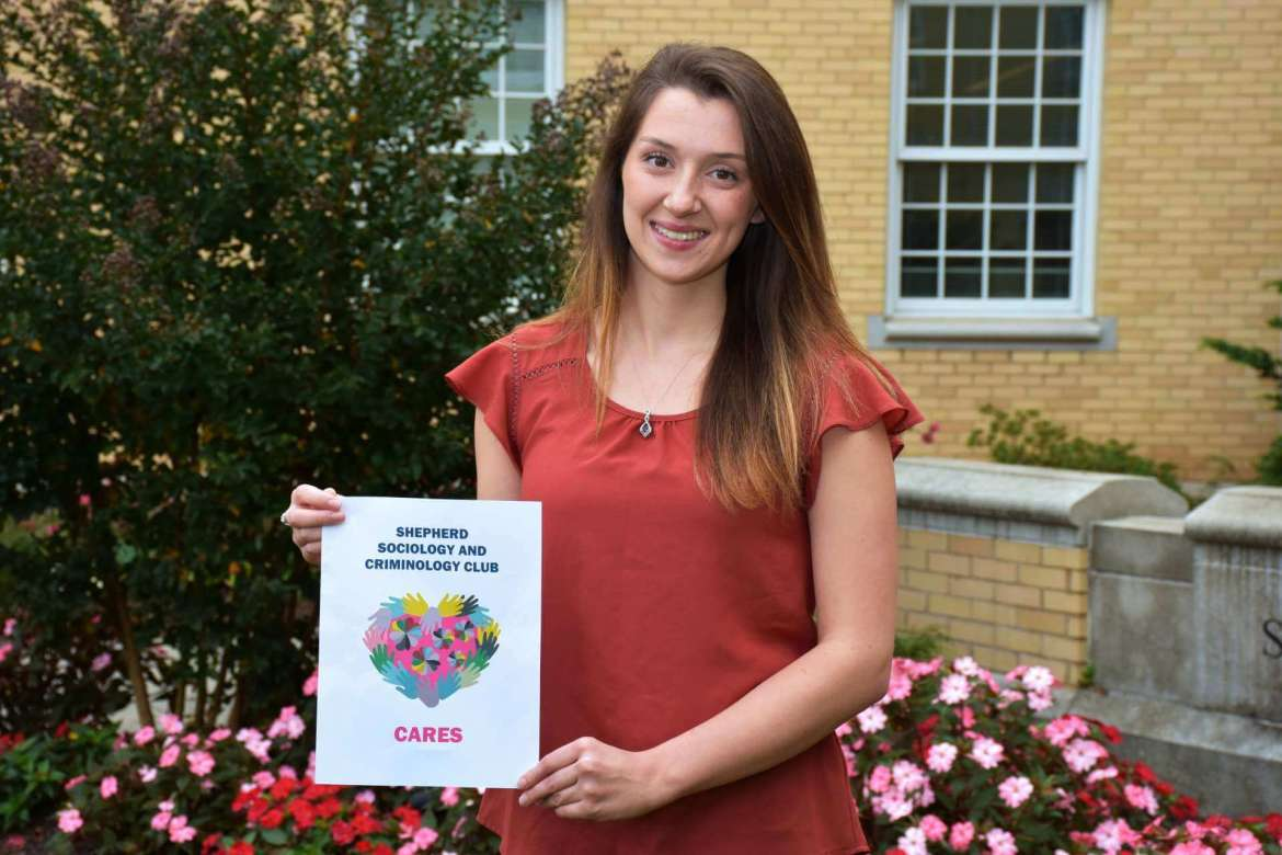 Brooke Sowers, a sociology major from Winchester, Virginia, and Sociology and Criminology Club vice president.