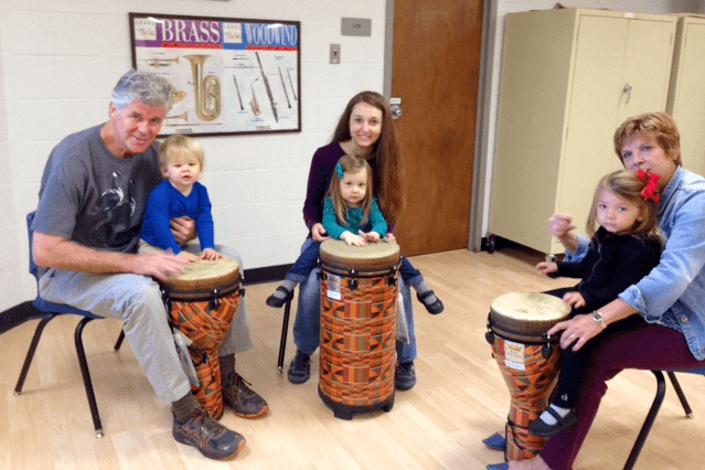 Shepherd's early childhood music classes give children 18 months-3 years old the opportunity to discover their musical side.