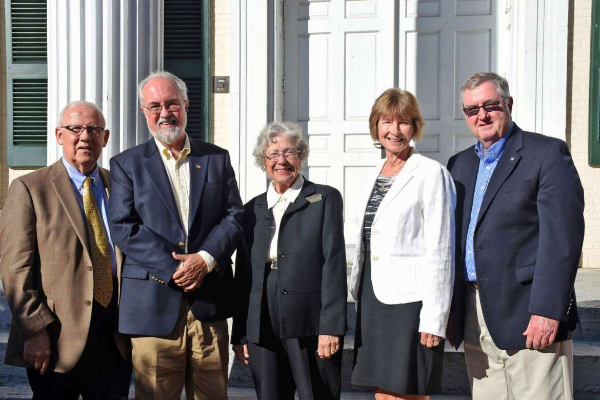 Pictured (l. to r. ) are Ramon A. Alvarez, Kenneth Harbaugh, Elizabeth S. Lowe, Susan Mentzer-Blair, and Jerry P. Kerr were named Directors Emeriti to the Shepherd University Foundation.