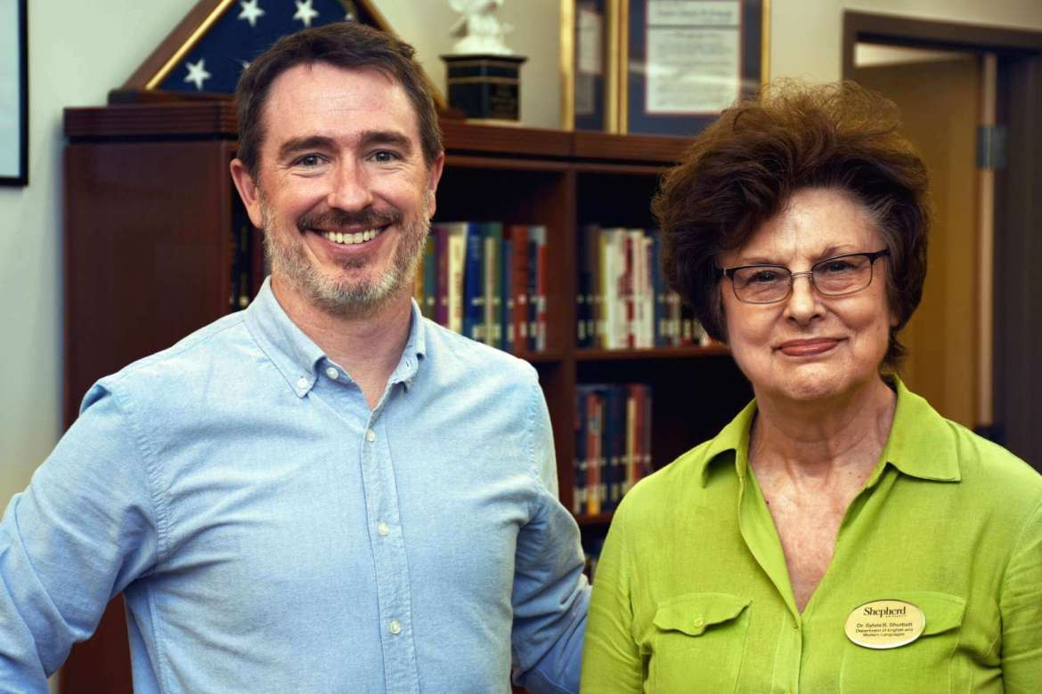 Pictured (from l. to r.) are Wiley Cash, 2017 Appalachian Heritage Writer-in-Residence, and Dr. Sylvia Bailey Shurbutt, Appalachian program coordinator.
