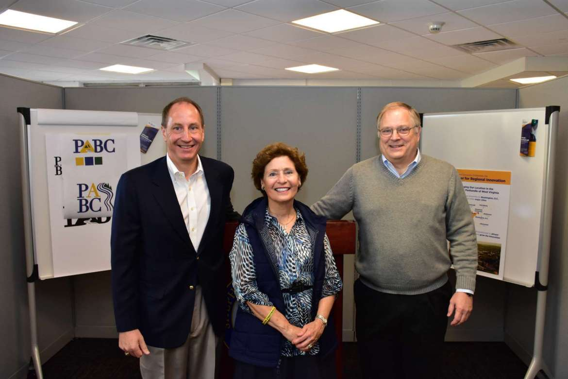 Pictured at the announcement of the new Potomac Applied Business Company at Shepherd are (l. to r.) Frank Genco, CEO of the Potomac Applied Business Company, Shepherd University President Mary J.C. Hendrix, and Dr. Ben Martz, dean of Shepherd's College of Business.