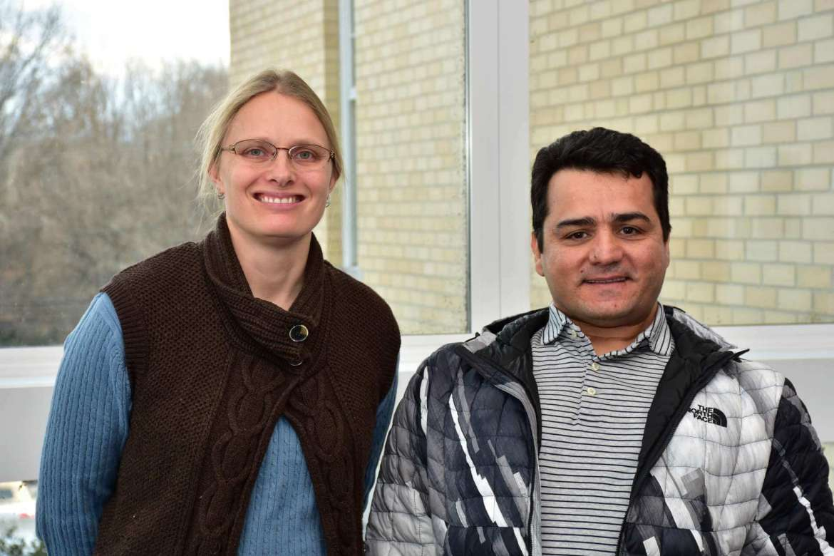 Two Shepherd University professors, Dr. Sytil Murphy (l.), assistant professor of physics, and Dr. Mohammadreza Ghahremani, assistant professor of computer engineering, received instrumentation grants  from the West Virginia Higher Education Policy Commission's Division of Science and Research.