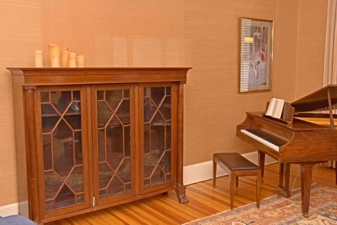 The bookcase is one of two that were built for Popodicon.