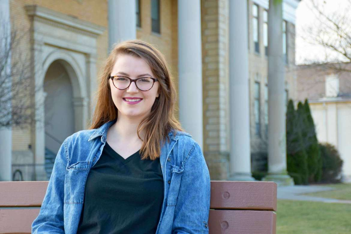 Brianna Maguire, an English major and marketing minor from Paw Paw.