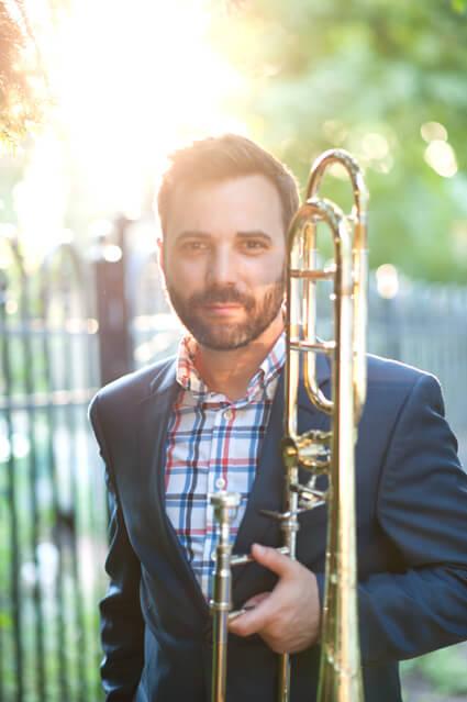 James Martin, Shepherd trombone instructor.