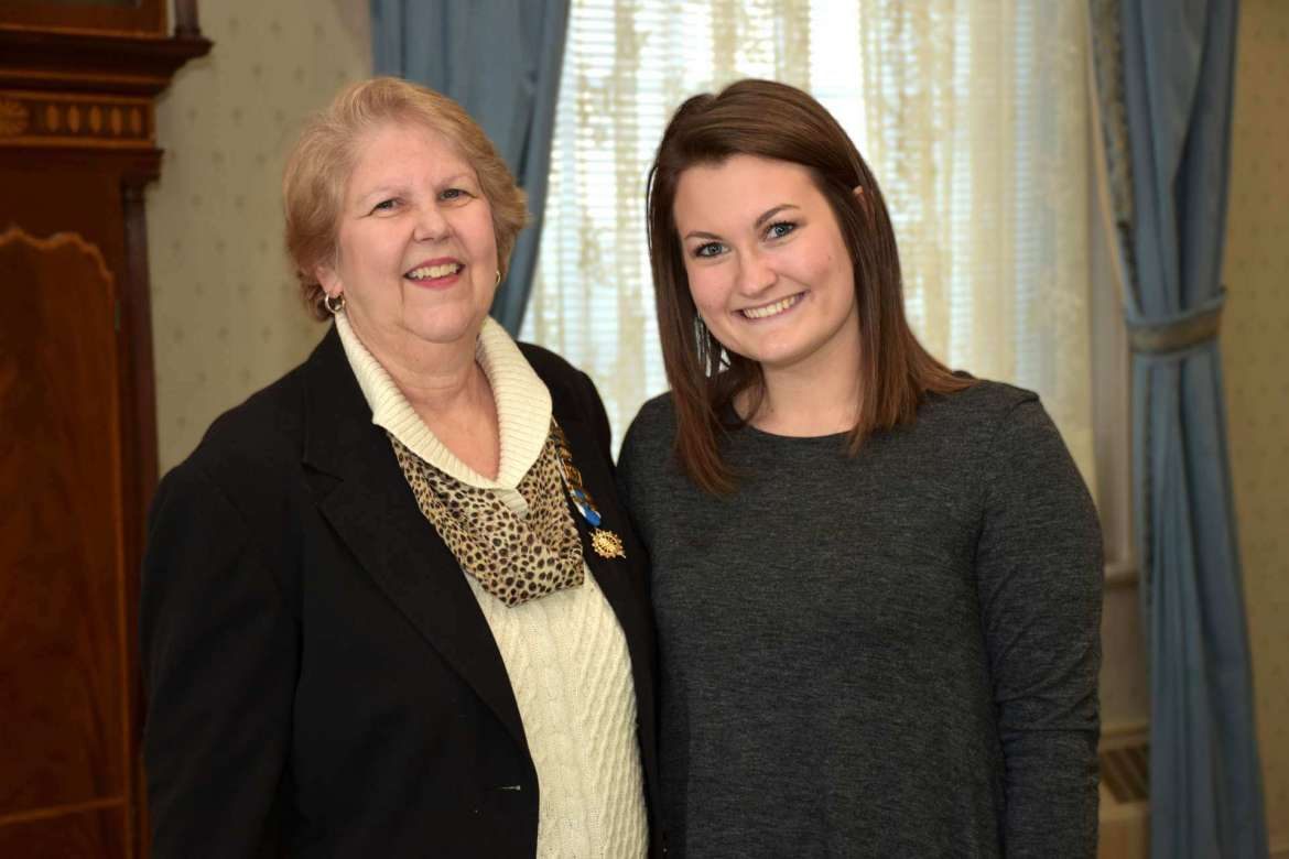 Pictured (l. to r.) are Kathy Sholl, Regent of the Pack Horse Ford Chapter of the National Society Daughters of the American Revolution, and Cierra Crockett, a junior elementary education major from Jefferson County and recipient of the 2017-2018 Ruth Power Thacher academic scholarship award
