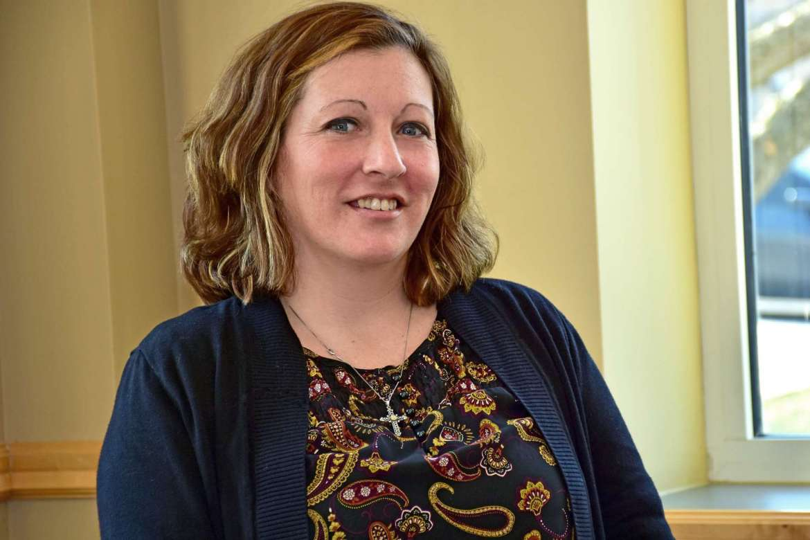 Krista Kyker, a Master of Arts in Teaching student from Martinsburg.