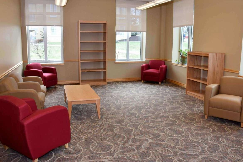 Community reading room.