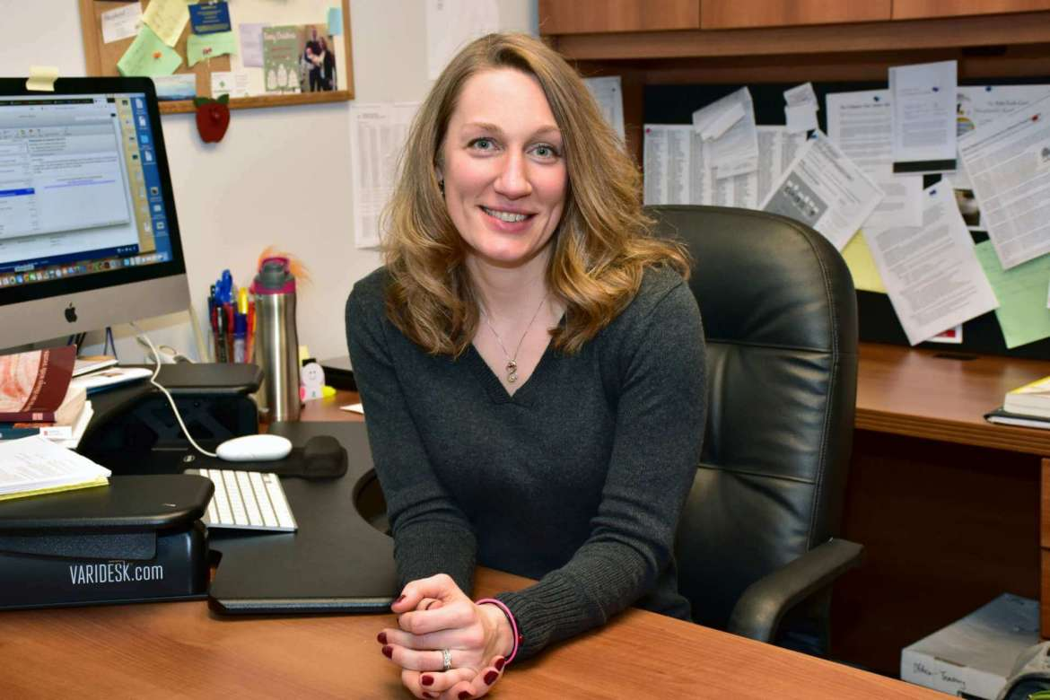 Dr. Christy Wenger, associate professor of English and director of writing and rhetoric.