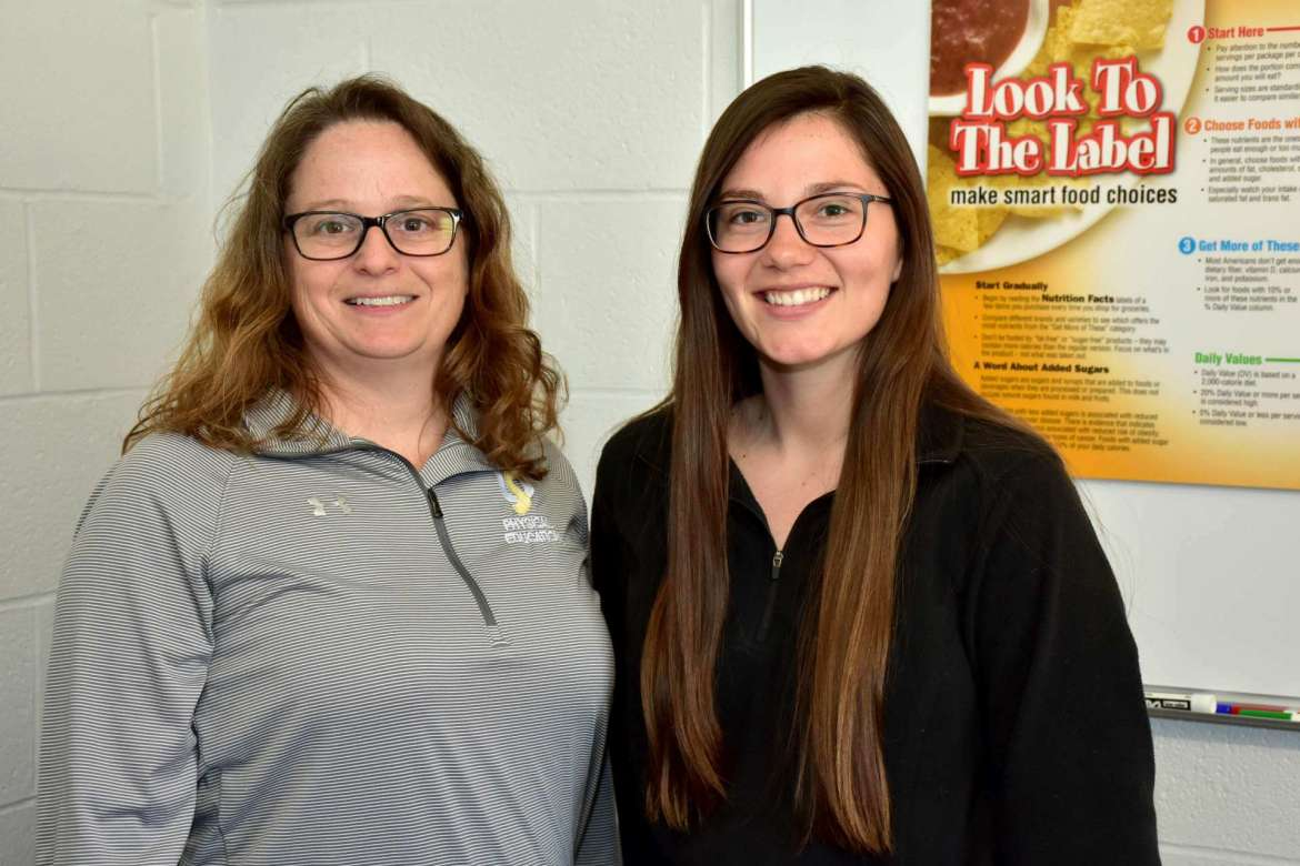 Julia Tracy (left), Shepherd SNAP-Ed director, and Emma Barr, assistant director.